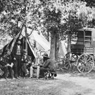 New 5x7 Civil War Photo: New York Herarld Newspaper Wagon in Camp