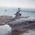New 5x7 Navy Photo: USS SARATOGA Supercarrier Home from Persian Gulf