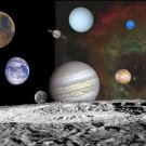 New 5x7 Photo: Solar System Montage of Planets from Voyager Images