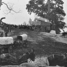 New 5x7 Civil War Photo: Wagons of the Sanitary Commission at Belle Plain