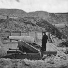 New 5x7 Civil War Photo: Gun Damaged in Bombardment of Fort Fisher, N. Carolina