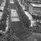 New 5x7 World War II Photo: Parade of U.S. Infantry on Champ Elysees, Paris