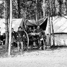 New 5x7 Civil War Photo: Artillery Officers Headquarters at Culpeper, Virginia