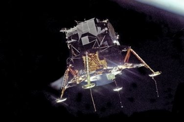 New 5x7 NASA Photo: Apollo 11 Eagle in Orbit for Lunar Moon Landing, 1969
