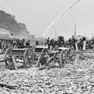 New 5x7 Civil War Photo: Caissons, Cannon and Army Wagons at City Point