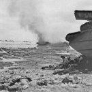 New 5x7 World War II Photo: Marines Take Shelter on the Beaches of Peleliu