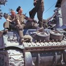 New 5x7 World War II Photo: Canadian Crew of M4 Sherman Tank