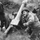 New 5x7 World War II Photo: U.S. Howitzers Shell Germans near Carentan, France