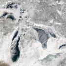 New 5x7 Photo: Snowy Great Lakes Superior, Michigan, Huron, Erie & Ontario