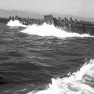 New 5x7 World War II Photo: Coast Guard Landing Barges in Lingayen Gulf