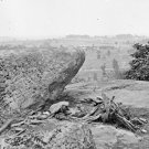 New 5x7 Civil War Photo: Federal Center from Little Round Top Hill, Gettysburg