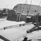 New 5x7 Civil War Photo: Guns of Fort Marshall on Sullivan's Island, S. Carolina
