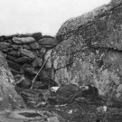 New 5x7 Civil War Photo: Rebel Casualty at the Devils Den, Battle of Gettysburg