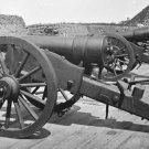 New 5x7 Civil War Photo: Battery of 100 Pound Parrott Guns on Morris Island