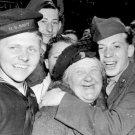 New 5x7 World War II Photo: Allies Celebrating German Surrender, England