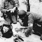New 5x7 World War II Photo: American Medics Help Injured Soldiers in France
