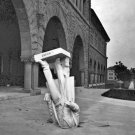 New 5x7 Photo: Fallen Statue at Stanford after San Francisco Earthquake, 1906