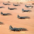 New 5x7 Photo: Multiple F-15E Fighter Aircraft of the 4th Tactical Fighter Wing