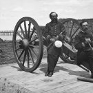 New 5x7 Civil War Photo: Officers at Battery Bee on Sullivan's Island