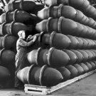 New 5x7 World War II Photo: Bomb Cases at Firestone Tire and Rubber Co.