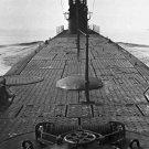 New 5x7 World War II Photo: Deck from Stern of U.S. Submarine, New London Coast