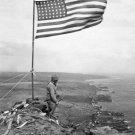 New 5x7 World War II Photo: U.S. Flag on Mount Suribachi, Iwo Jima