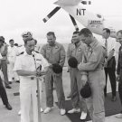 New 5x7 NASA Photo: Apollo 13 Crew in Prayer aboard USS IWO JIMA after Return