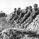 New 5x7 World War II Photo: U.S. Infantry Anti-Tank Crew Firing on Germans