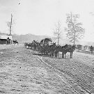 New 5x7 Civil War Photo: Wagons at Big Black River Station, Mississippi