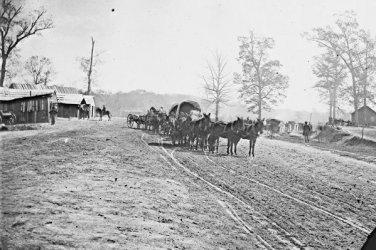 New 5x7 Civil War Photo: Wagons at Big Black River Station, Mississippi