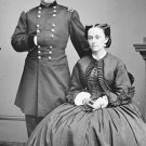 New 5x7 Civil War Photo: Union - Federal General George McClellan & Wife