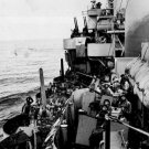 New 5x7 World War II Photo: Navy Cruiser Covers Troops Landing on Mindoro