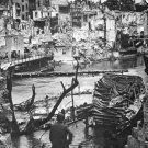 New 5x7 World War II Photo: Pegnitz River in Devastated Nuremberg, 1945