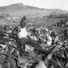 New 5x7 World War II Photo: Battered Temple after Bombing of Nagasaki, Japan