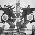 "New 5x7 World War I Photo: ""Gobs"" & Guns Aboard the USS TEXAS, 1918"