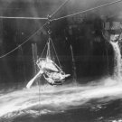 New 5x7 World War II Photo: Taking Wounded from USS BUNKER HILL to WILKES BARRE
