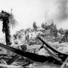 New 5x7 World War II Photo: United States Marines Storm Tarawa, Gilbert Islands