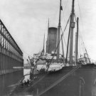 New 5x7 Photo: SS CARPATHIA at Dock in New York City after TITANIC Sinking, 1912