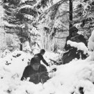 New 5x7 World War II Photo: U.S. 290th Regiment Fight in Snow Near Amonines