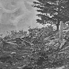 New 5x7 Civil War Photo: Breastworks on Union Left at Gettysburg Battlefield