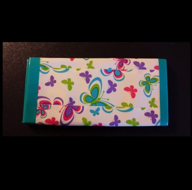 Duct tape women's wallet butterfly