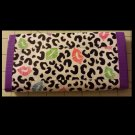 Duct tape women's wallet Leopard kiss