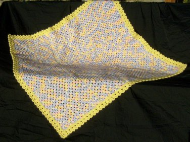 Yellow Multi colored blanket