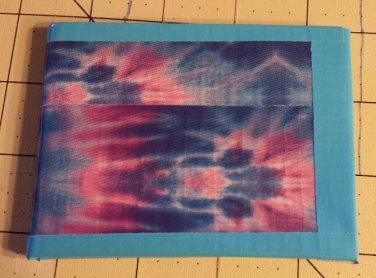 Duct tape bi-fold wallet blue galaxy