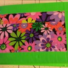 Duct tape bi-fold wallet Bright Flowers