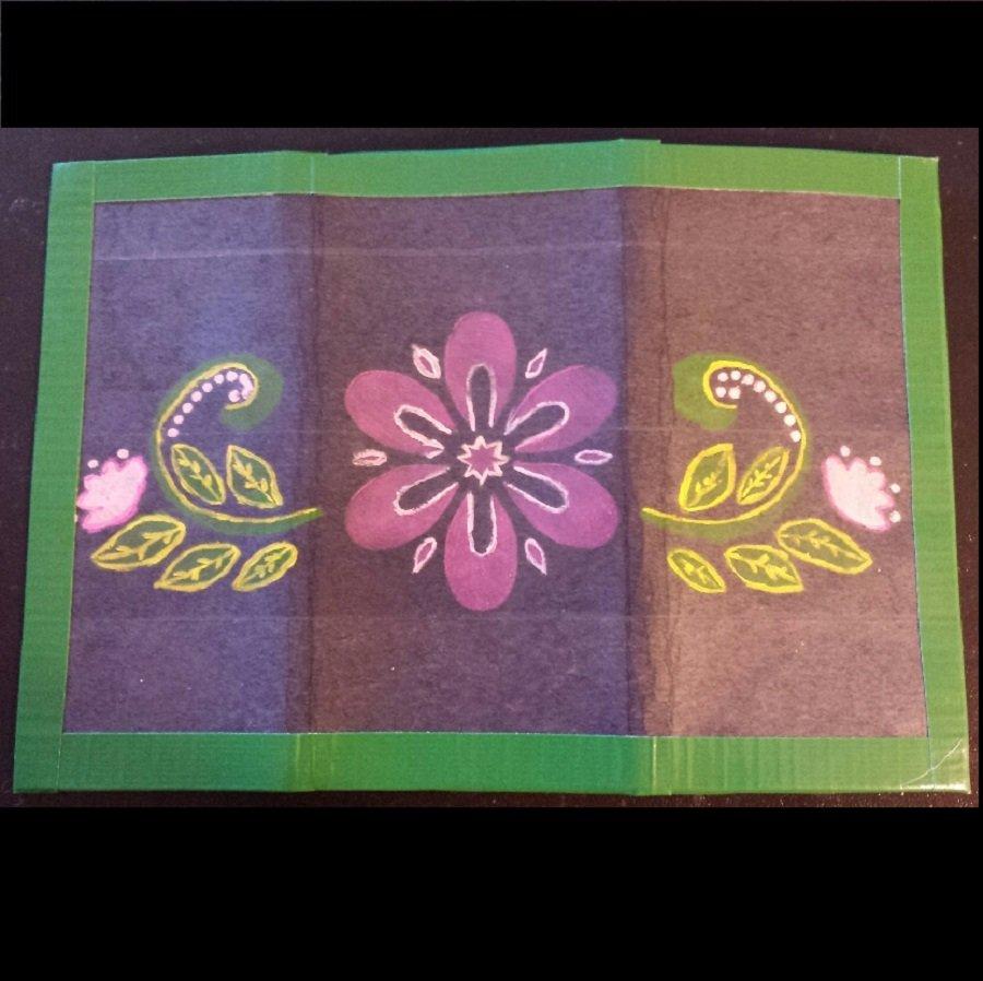 *hand painted* Duck tape women's wallet