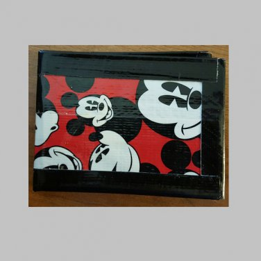 Duct tape bi-fold wallet Mickey Mouse