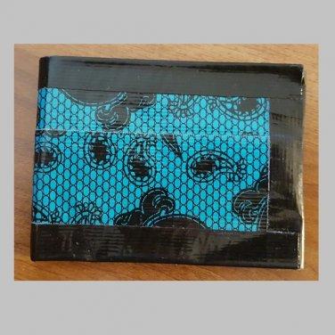 Duct tape bi-fold wallet Blue Lace