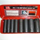"New MIT 9 Pc 3/8""  Dr Deep Impact Socket Set SAE #4835"