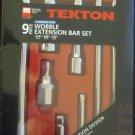 Tekton 9pc Combination Wobble Extension Bar Set #1660